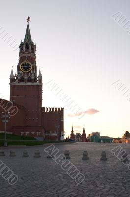 Tower with red star