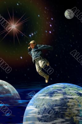 boy in the space