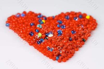 Red beads heart