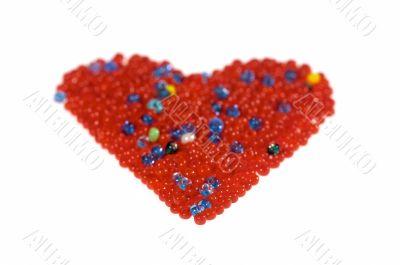 Glass beads heart
