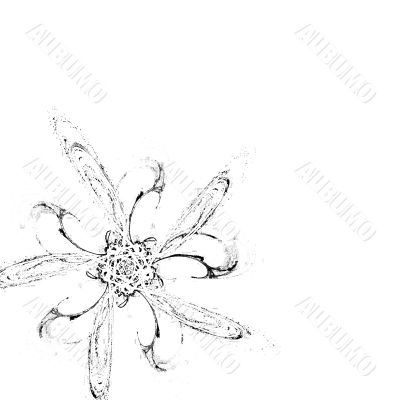 Vertical white background with black ornament