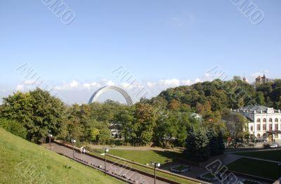 View on Kiev Arc of Nations Friendship