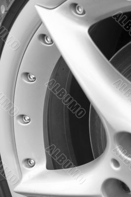 Wheel rim section