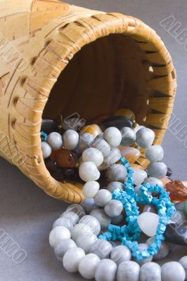 Beads on the straw casket
