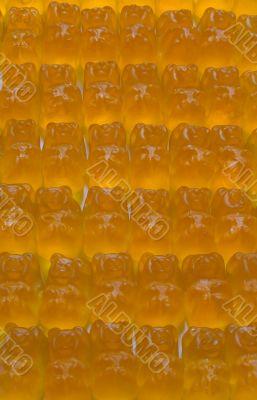 Orange gelatinous sweets