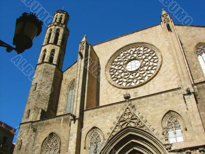 Barcelona. Cathedral Sta. Maria del Mar