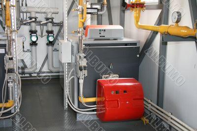 The gas boiler