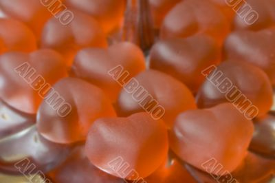 Red gelatinous sweets