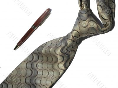 tie and pen