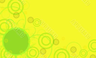 Yellow frame with green circles