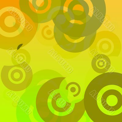 Retro background with disks