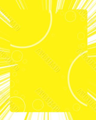 Yellow background with white circles