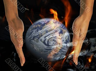 conflagration, fire, blaze