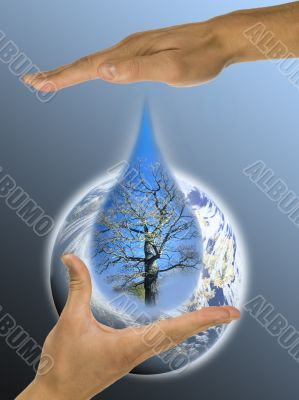 ecology, hands, responsibility