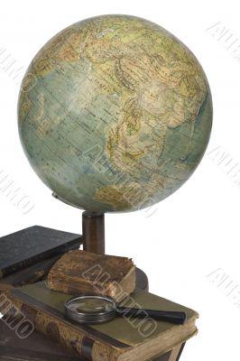 Globe, communications, map