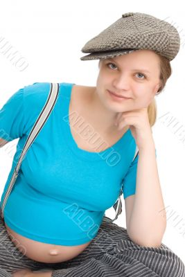 young woman in expectation of baby