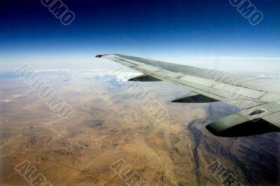 Desert, Egypt, river, sand, plane