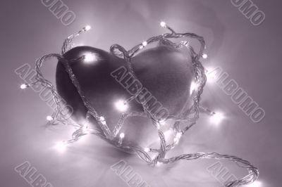 Heart in magenta filter