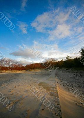 Footpath on sand