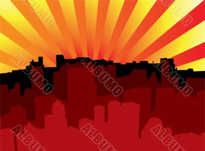 sunrise city scape