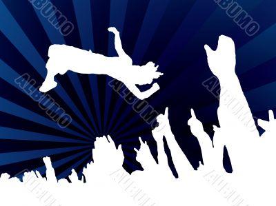 concert jump blue