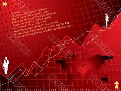 financial background red