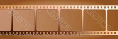 brown film outline gradient
