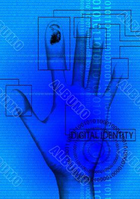 digital identity blue