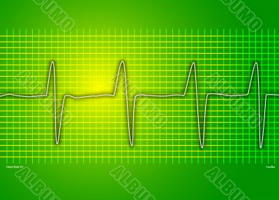 heart beat green