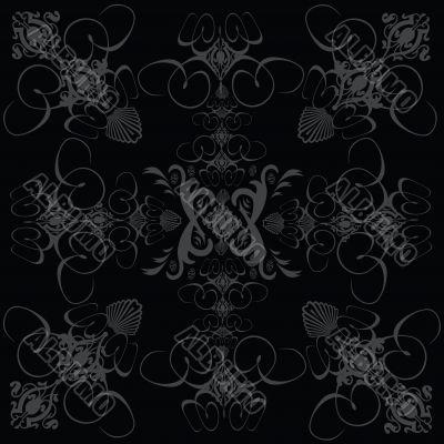 flower tile gothic black