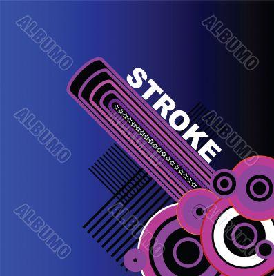 blue stroke