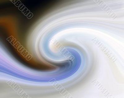 Paint swirl white