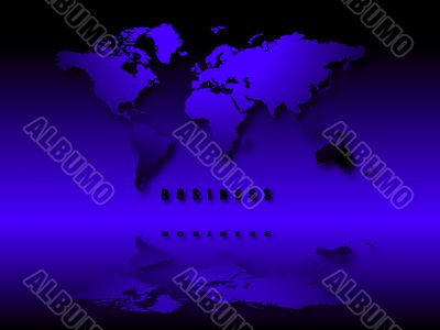 illuminated world business