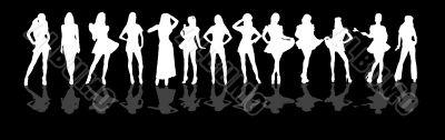 women silhouette blk