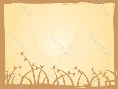 worn floral brown
