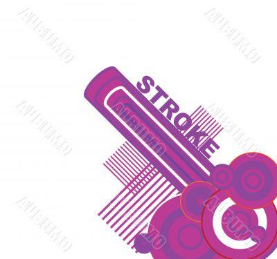 white stroke