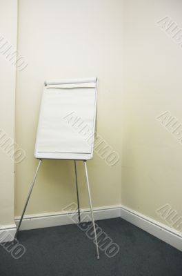 Blank flip chart