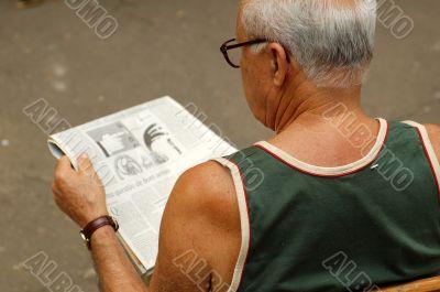Men reading the newspaper