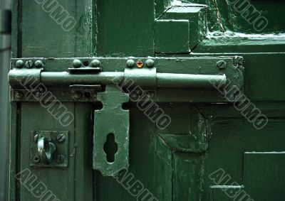 Close-up of a green lock
