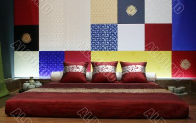Modern Asian-style bedroom