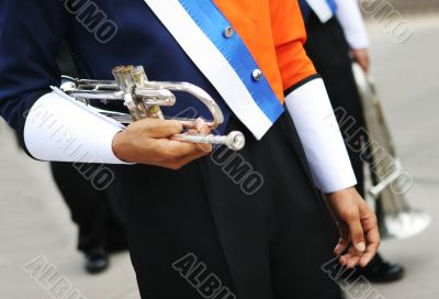 In the marching band