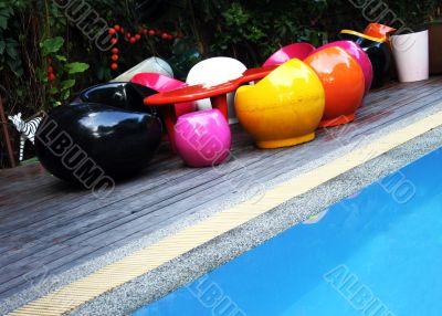 Funky pool furniture
