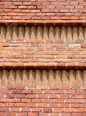 Brick wall of a triumphal arch. Barcelona