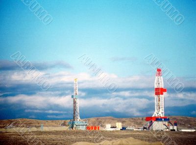 Oil field Rigs