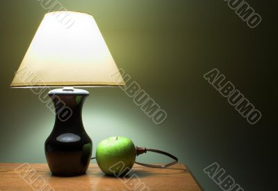 an apple powered lamp