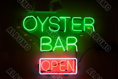 oyster bar neon sign