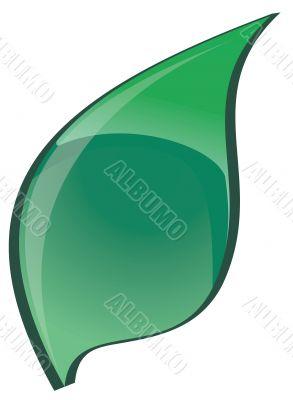 The Green bright leaf