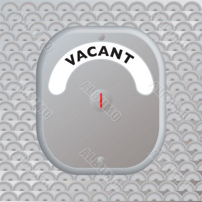 secure door vacant