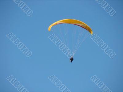Flight on a paraplane
