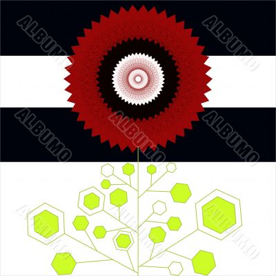 Geometrical flower
